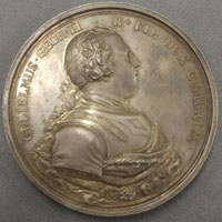 Medal depicting the Duke of Cumberland.