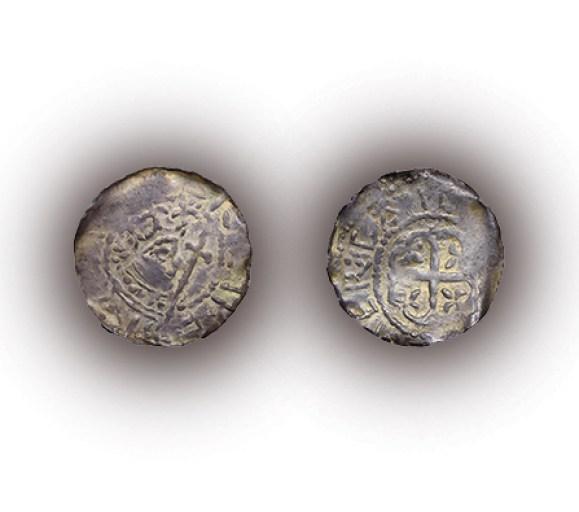 Empress Matilda, penny, c.1141 - 1142, silver, Cardiff, GLAHM:37697, purchase 1981.