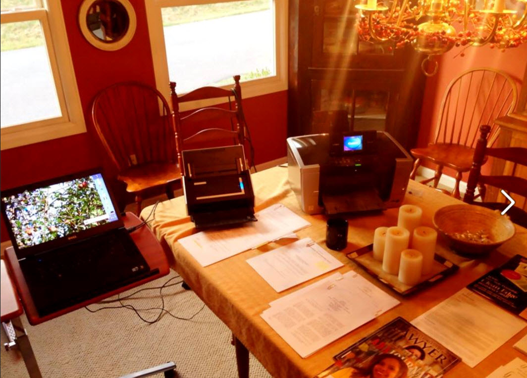 This Is A Set Up At Home. Not Yet Paperless, But With My Fujitsu Scansnap  Scanner.