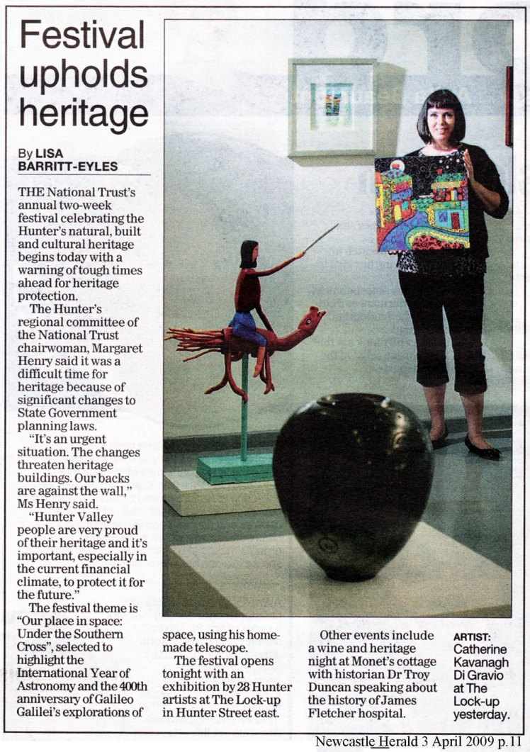 'Festival Upholds heritage' in the Newcastle Herald 2nd April 2009.