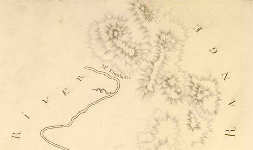 Mt Elizabeth on Barrallier's 1801 plan