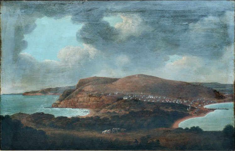 Lycett - Newcastle, New South Wales, looking towards Prospect Hill. (1816?) (Courtesy Newcastle Region Art Gallery)
