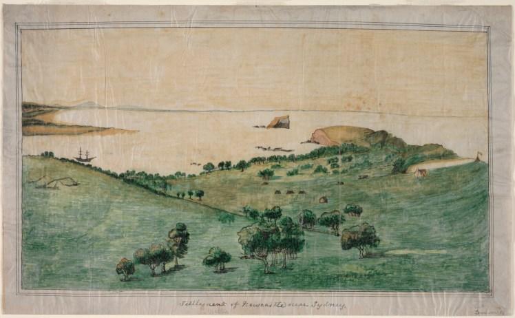 Settlement of Newcastle, circa 1804 by Ferdinand Bauer