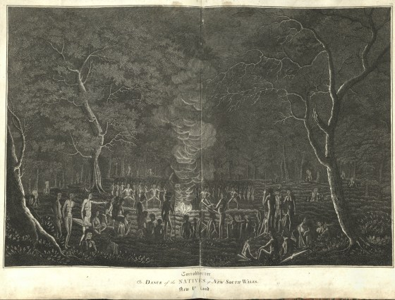 Corrobborree or Dance of the Natives of New South Wales New Holland (1821) - Courtesy of UONCC University of Newcastle (Australia)