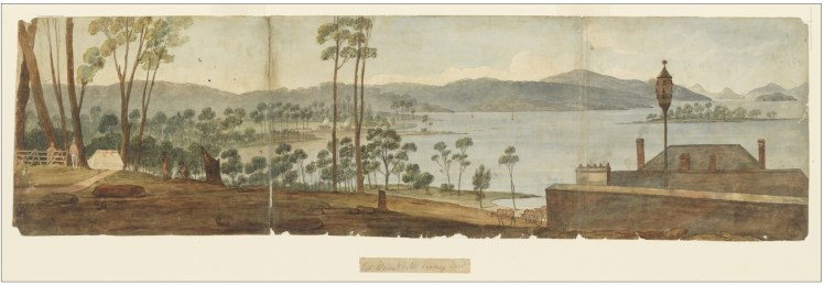 7. 'Port Stevens, New South Wales' by Augustus Earle 1825-1828 (Courtesy of State Library of NSW)