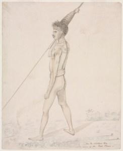 Ca la watum Ba a native of the Coal River [1810-1822]. Shows hair adornment.