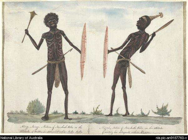 Browne, Richard, Ninge Ninge and Nigral, 1811. National Library of Australia.