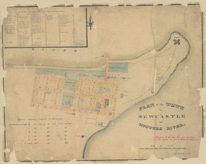 Newcastle Plan - Henry Dangar 1823