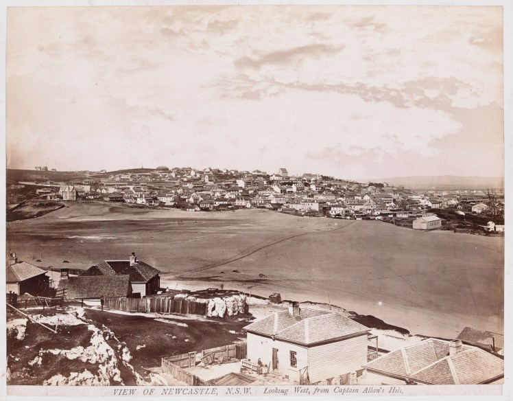 View of Newcastle Looking West from the Captain Allan's Hill (H141644-Courtesy of the State Library of Victoria)