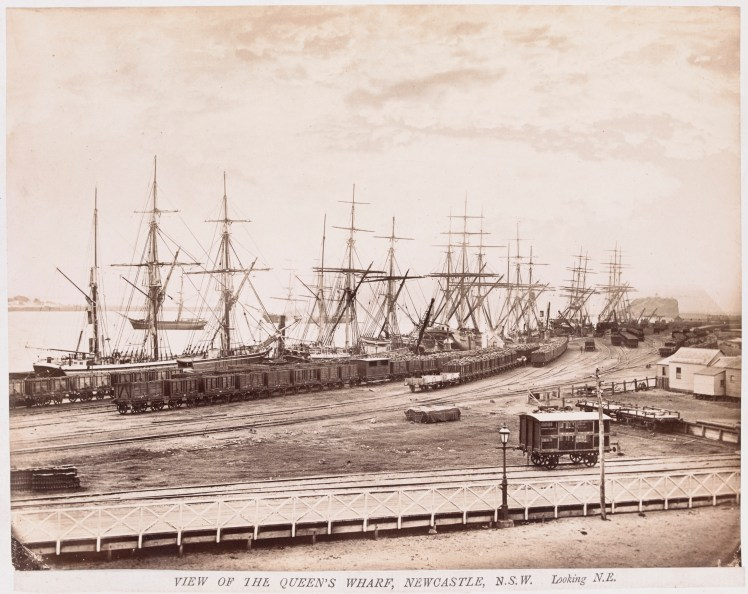 View of Queen's Wharf, Newcastle Looking North East (H141646-Courtesy of the State Library of Victoria)