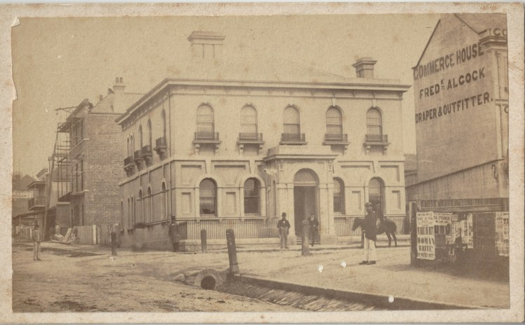 Australian Joint Stock Bank, (AJS) (12) Newcastle, circa 22 October 1870 - 1 December 1870 (Photo Credit: Digitised by Anne Glennie from Glennie Family Albums) Click for larger view