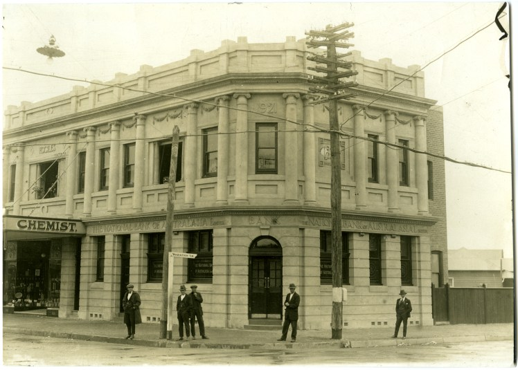he National Bank of Australasia Limited, Mayfield (N.S.W.) July 1922. Courtesy of the National Australia Bank Archives, Springvale, VIC) 600 dpi scan (18MB)