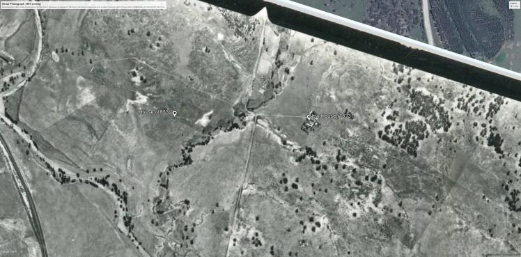 Aerial photo 1967 overlay (CAMBERWELL-01-1967-R005C-1481-5197)- evidence earlier house