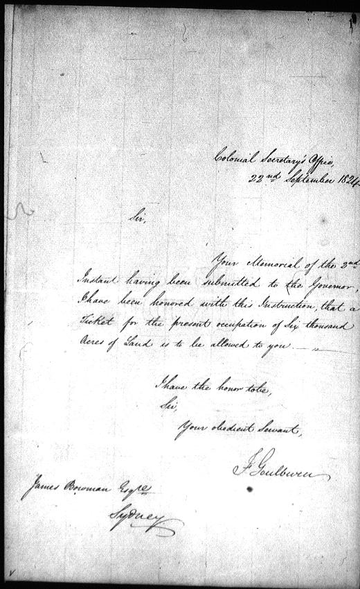 col sec Sept. 22 1824 memorial