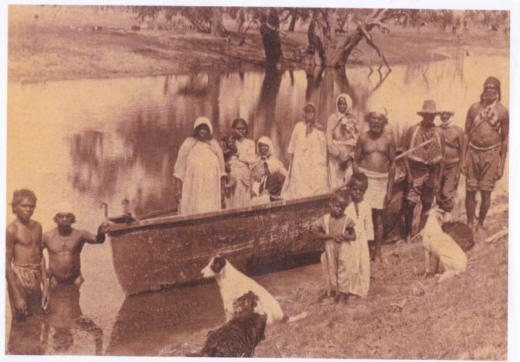 Barrington River Boat used to get to school (date unknown)