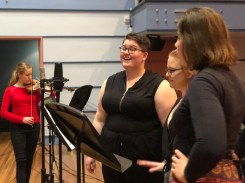 Singers – Alexandra Cuthbert-Freese (Evangeline); Gabrielle Newland (Try again, Johnnie); Eden Dennis (Three Little Maids) for the Victoria Theatre 3D Reconstruction Project