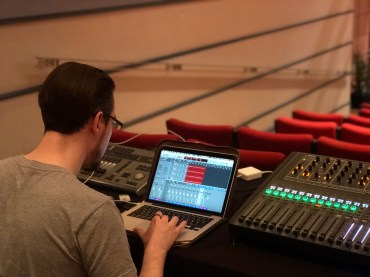 Sound Engineer - Ryan Huthnance for the Victoria Theatre 3D Reconstruction Project