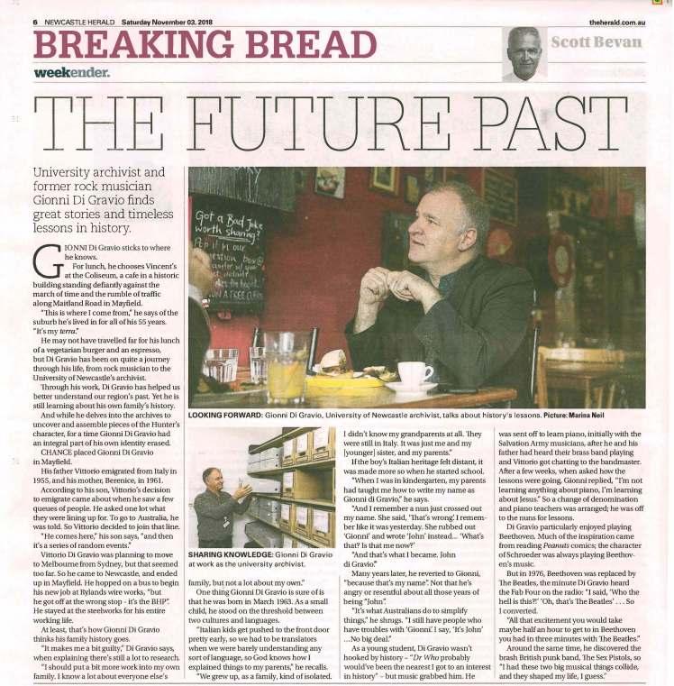 Breaking Bread article