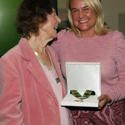 Awards ceremony for Vera at City Hall with Lord Mayor Nuatali Nelmes. Picture by Peter Lorimer.