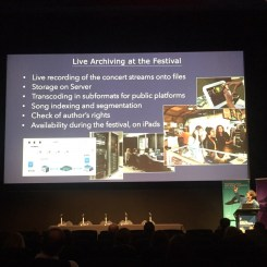 Dr Alain Dufaux , on digitisation of Montreaux Jazz Festival