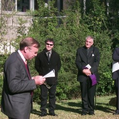 Professor Harold Tarrant read an excerpt from an obscure ancient Greek fragment on loss and consolation: A Passage for Godfrey..
