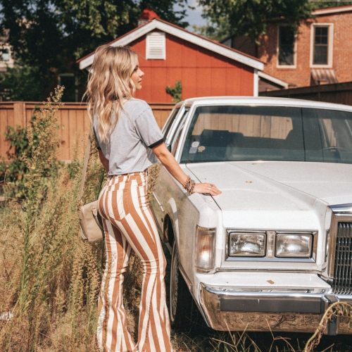 STYLE DIARY | STRIPED BELL BOTTOMS