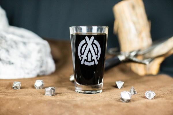 Hunters of Avalon Logo Pint Glass
