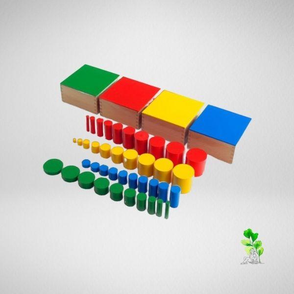 HuntersWoodsPH Checklist Sensorial Montessori Materials Toddler Preschool Knobless Cylinders