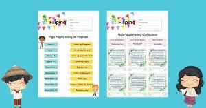HuntersWoodsPH Montessori Filipino Worksheets Mga Pagdiriwang Pansibiko at Panrelihiyon