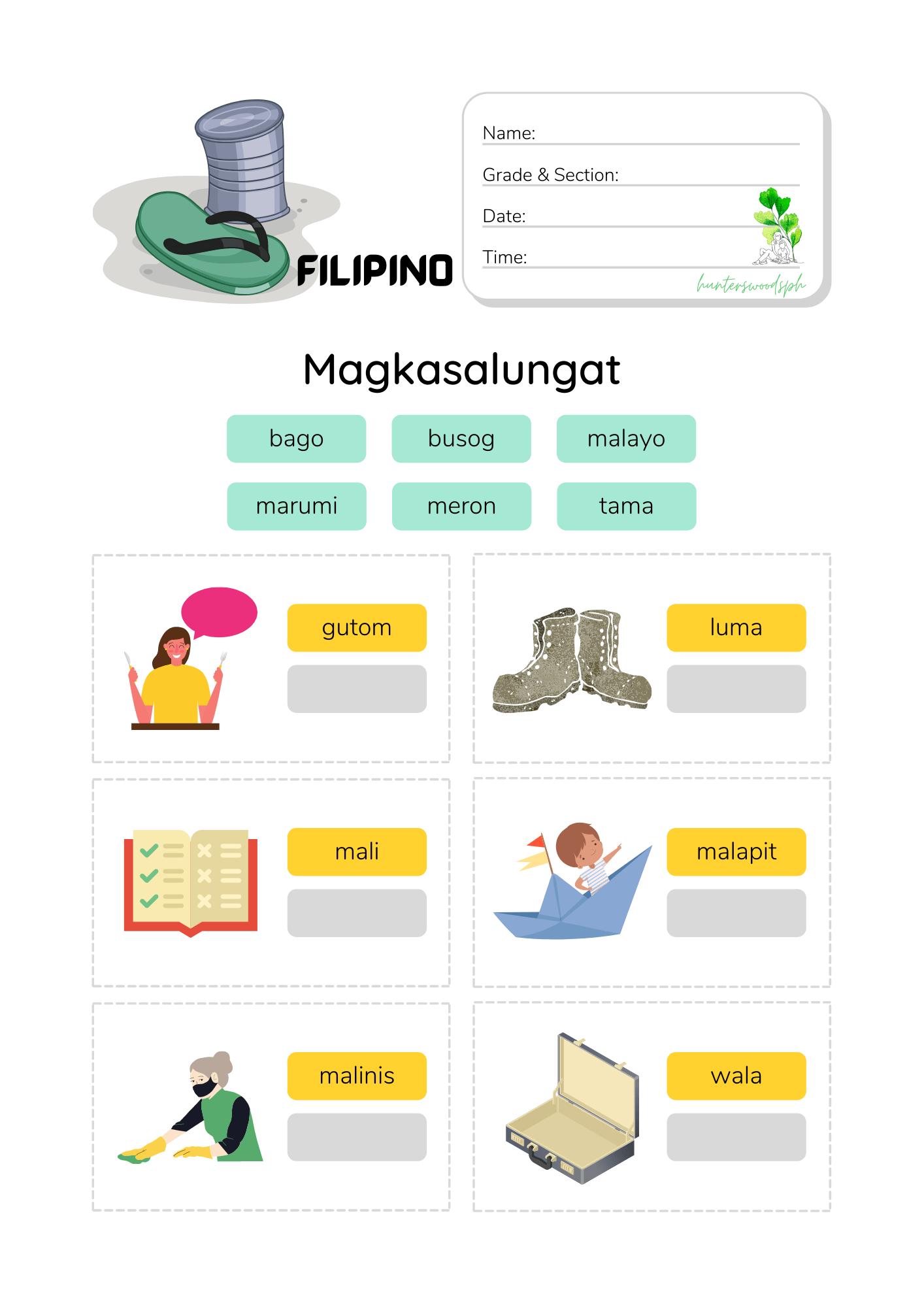 1 Magkasalungat Activity Worksheet for Grade 1