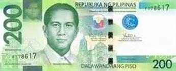 Philippine Money 200 Peso Bill