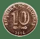 Philippine money 10 centavo coin