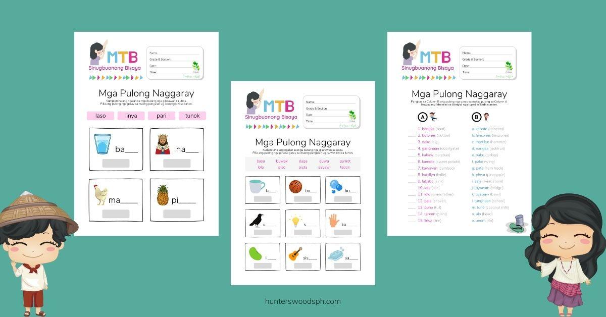HuntersWoodsPH Pulong Garay Naggaray Bisaya Rhyming Words Worksheet