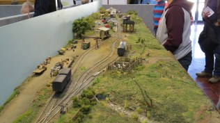 Looking down the layout