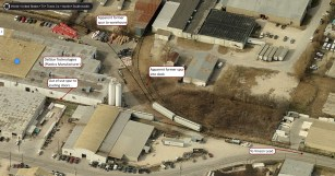 Overview of the site with my own notations