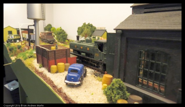 A Pannier Tank resting in the shed