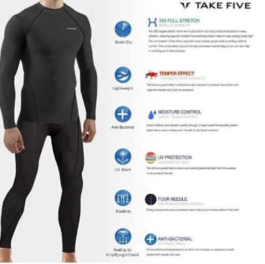 JustOneStyle New Men Skin Tights Best Base Layer For HuntingSports Running Long Pants