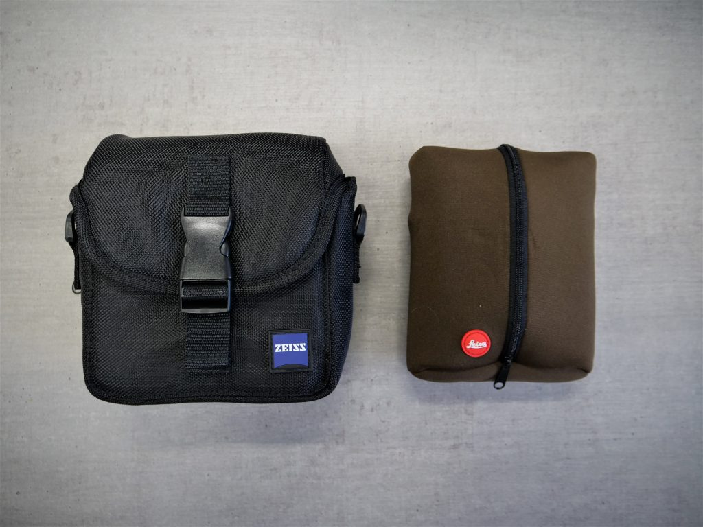 Zeiss Conquest HD 8×32 And Leica Trinovid 8×32 HD Bags