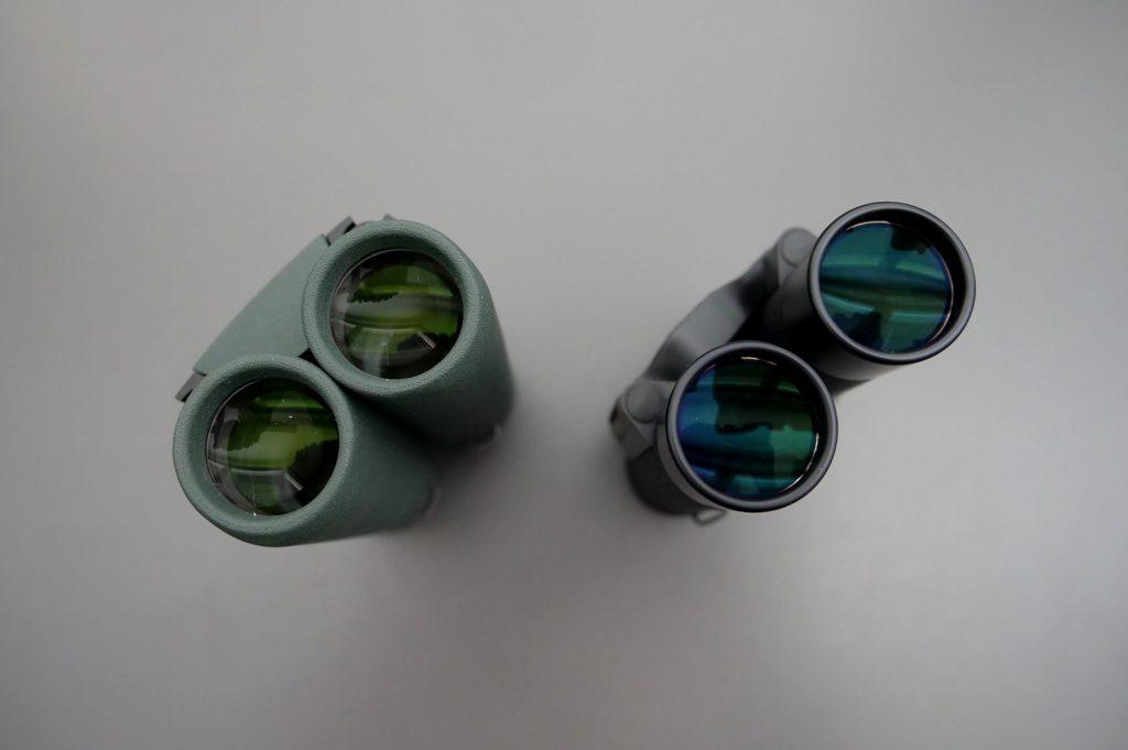 Swarovski CL Pocket 10x25 and Leica Ultravid 10x25 BL AquaDura Folded