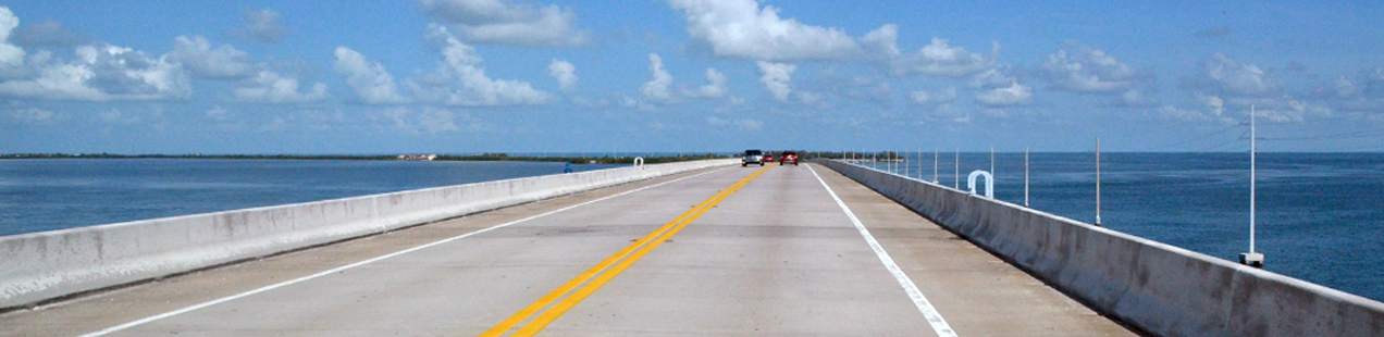 Overseas Highway Florida Key Licence to Kill James Bond
