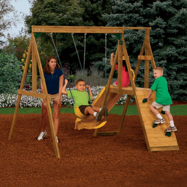 small backyard swing sets - Small Backyard Swing Sets - Home Design Ideas