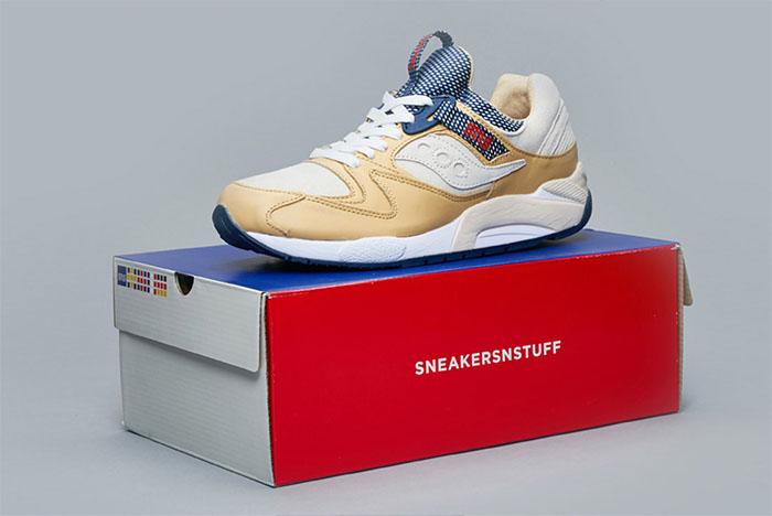 Sneakersnstuff Craft a Luxurious Saucony Grid 9000