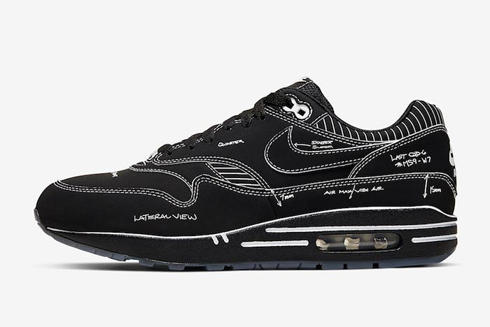 Release Details! Nike Air Max 1 'Black Schematic'