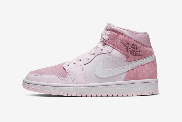 The Air Jordan 1 Mid Pulls Up in Pink