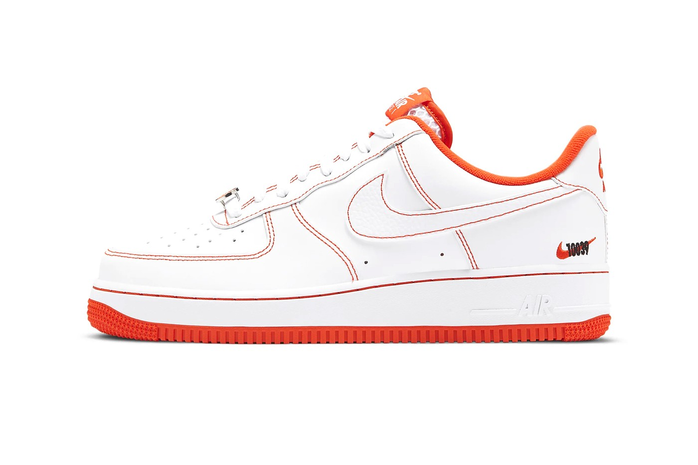"""Nike Outlines Air Force 1 '07 LV8 With Bright """"Team Orange"""" Highlights"""