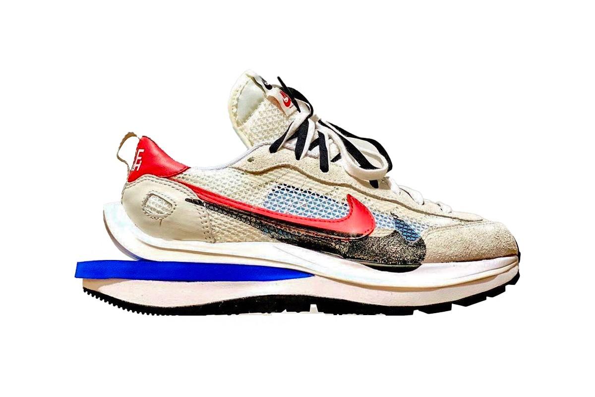 "Take a First Look at the sacai x Nike Vaporwaffle ""Game Royal/Sport Fuchsia"""
