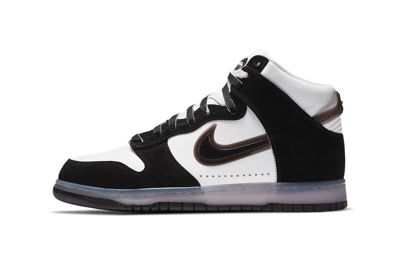 "Official Images of the Slam Jam x Nike Dunk High ""Clear Black"""