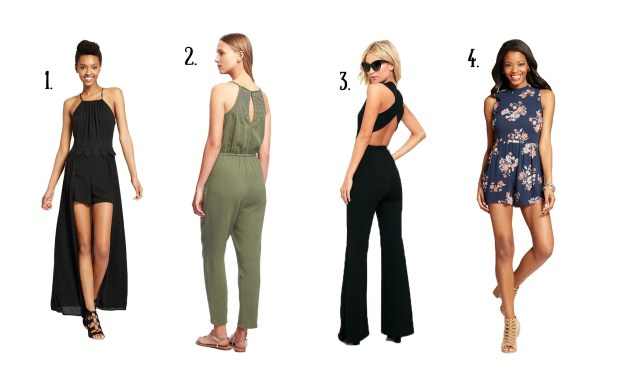 Four romper options