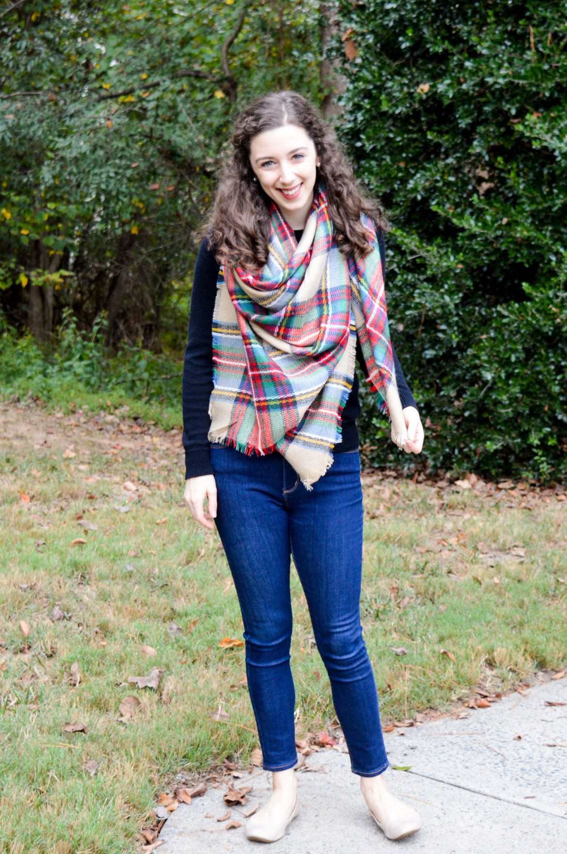 Cozy ways to wear a blanket scarf this fall