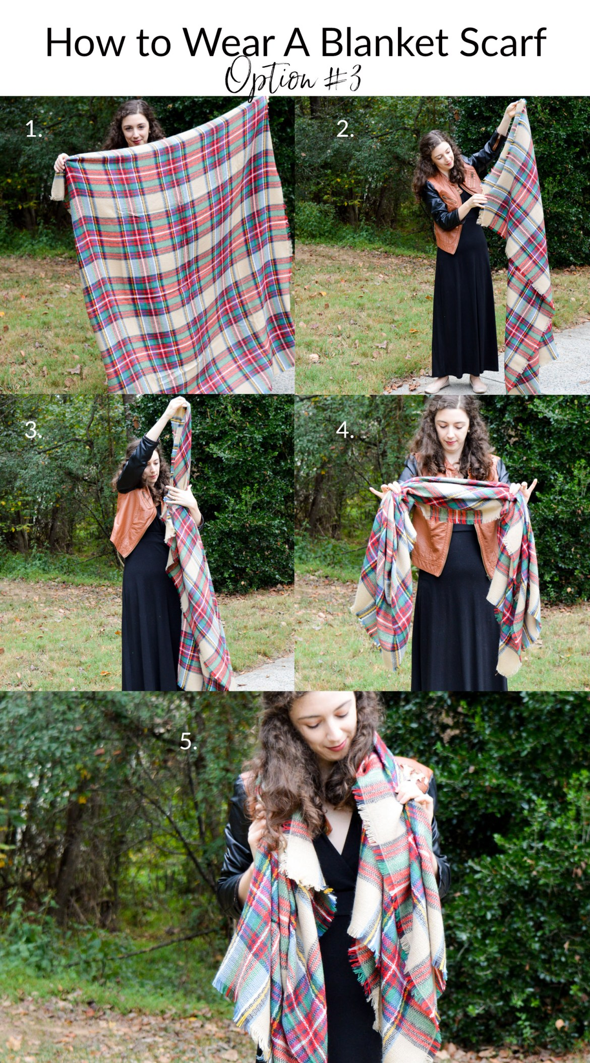 Step-by-Step Photo Tutorial - How to Wear a Blanket Scarf